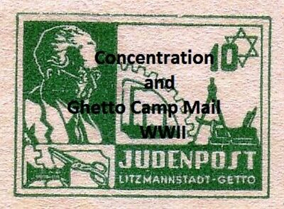 Postal History - Concentration & Ghetto Camp Mail - WWII