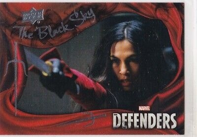 A Weapon Against Our Enemies 2018 Upper Deck The Defenders Black Sky BS7 (1:120)