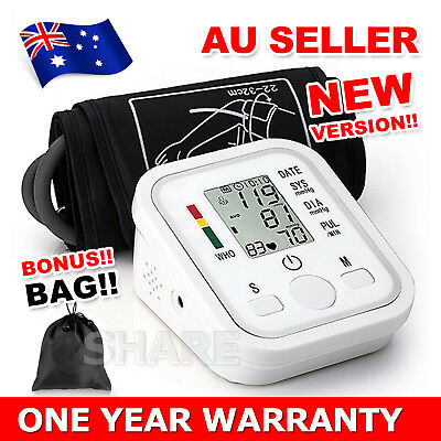 New Digital Blood Pressure Monitor Upper Arm BP Machine Free Shipping AU Seller