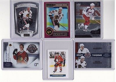 LOT 6x JONATHAN TOEWS INSERT & PARALLEL 2015-16 OPC MINI-GLOSSY SP RED PRISM/135