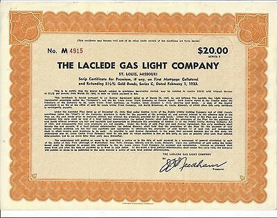 Laclede Gas Light Company Stock Certificate 9 99 Picclick