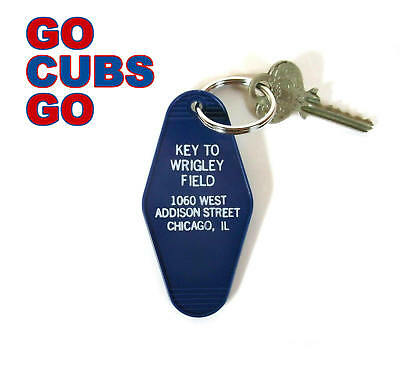 """""""KEY TO WRIGLEY FIELD"""" Chicago Cubs KEY TAG baseball novelty World Series champs"""