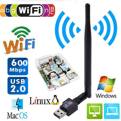 600Mbps USB2.0 Wifi Router Wireless 802.11 N Adapter PC Network LAN Card for PC