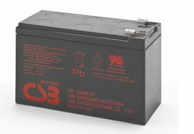 BATTERIA CSB HR1234W F2 HR 1234W F2 12v 34w 1,67v/15min PIOMBO High Rate