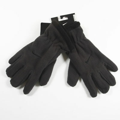 NWT NIKE BOY'S YOUTH FLEECE GLOVES Dark Gray Grey 18-20  MSRP $15