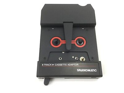 Vintage Cassette 8-Track Stereo Adapter Sparkomatic SCA-10 NEW IN BOX w/ manual