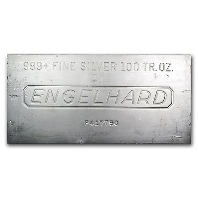 SPECIAL PRICE! 100 oz Silver Bar - Engelhard - SKU #166597