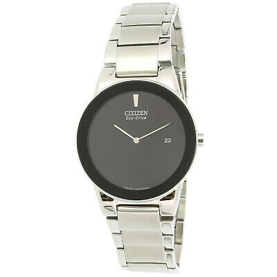 Citizen Men's Eco-Drive AU1060-51E Silver Stainless-Steel Plated Dress Watch