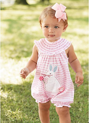 c0bc42a16 MUD PIE EASTER Baby Bunny Pocket Romper with Pom-Pom Trim - $28.00 ...