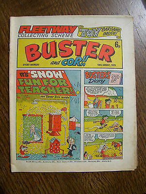 'Buster and Cor!!' comic, 16th August, 1975 - vgc