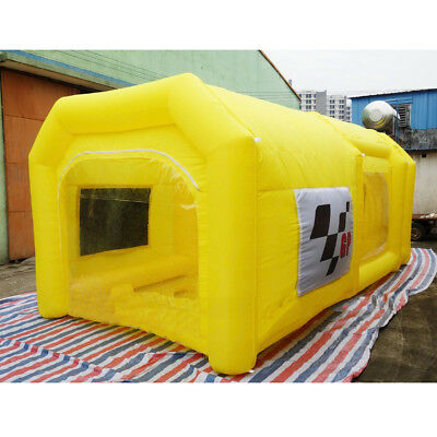 19x10x8Ft Yellow Inflatable Spray Booth Custom Tent Car Paint Booth 6x3x2m