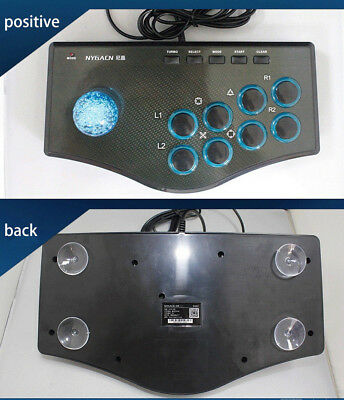 USB Wired Arcade Fighting Stick Fighter Joystick Game Controller For PC PS3