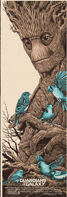 """""""We are Groot"""" Guardians of the Galaxy Screen Print by Steven Holliday Art Mondo"""