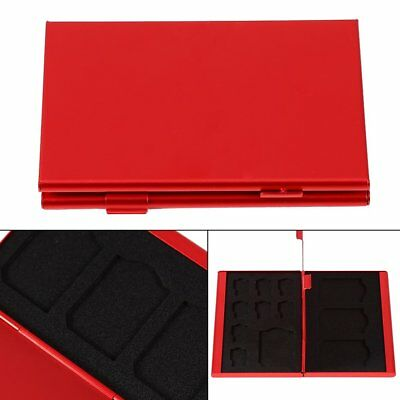 New Micro SD TF MMC Memory Card Storage Box Holder Protector Case 12 Slots Red