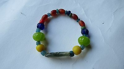 ANCIENT MULTI-Color Variety Sizes / Jade Fish Stretch Beads Bracelet  THAILAND.