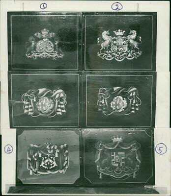 Key to the coats of arms. - Vintage photo
