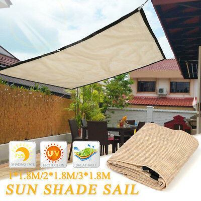 1/2/3 *1,8M Voile d'ombrage UV Protection Solaire Toile Tissu Taud Tendue Jardin