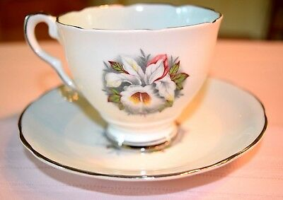 Royal Stafford Bone China White Lady Made In England Cup And Saucer