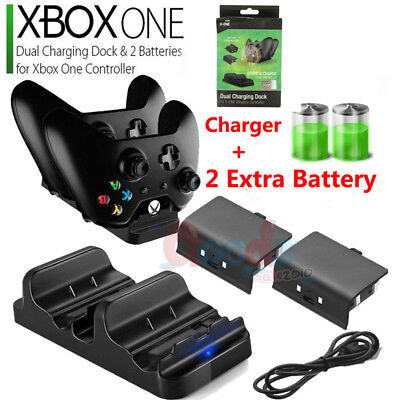 For XBOX ONE Dual Charging Dock Station Controller Charger+ Rechargeable Battery