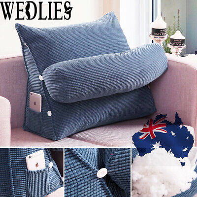 AU Bed Chair Sofa Office Rest Neck Back Support Wedge Cushion Pillow Adjustable