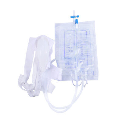 1pcs Urinary Drainage Bag Clear 2000ml Urine Bag with Anti Reflux Valve for Aged