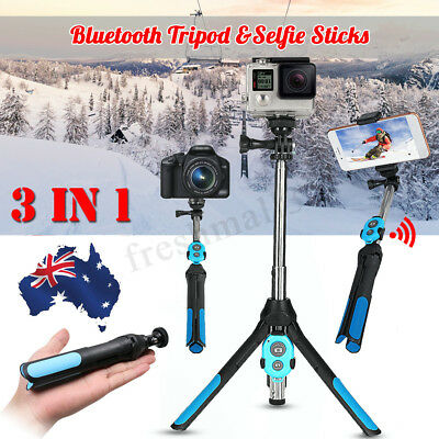 3in1 Camera Phone Handheld Unipod Monopod Selfie Stick Tripod bluetooth