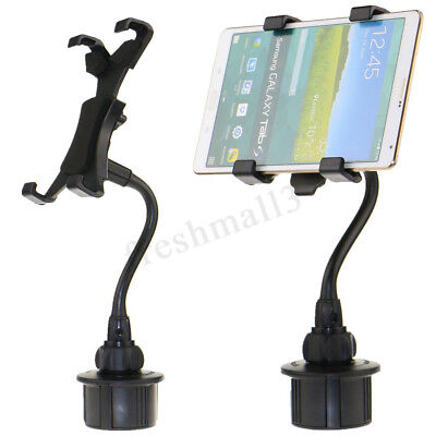 Car Cup Holder Mount For 7''-10'' Tablet iPhone 7 iPad Samsung Galaxy Universal