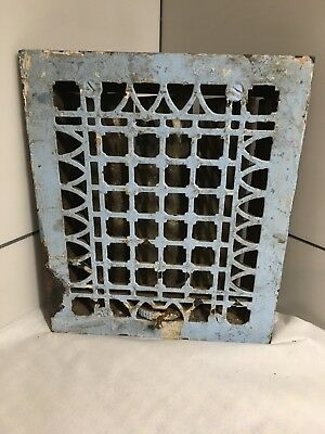 "Cast Iron Victorian Style Grate Heating Ventilation Duct Intake 9-3/4""x11-1/2"""