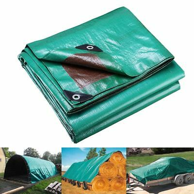 3x4.5m Reinforced Poly Tarps 137gsm PE Tarpaulin Camping UV Water Proof Cover