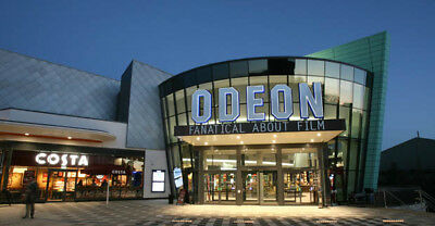 2 x Odeon Cinema Ticket. All of UK London and ROI. Any 2D Film Same Day Delivery
