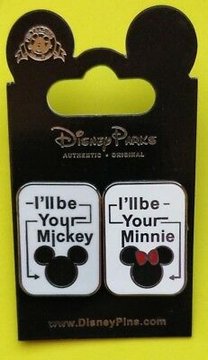 Disney trade pin Mickey and Minnie ill be your (I COMBINE THE P&P)
