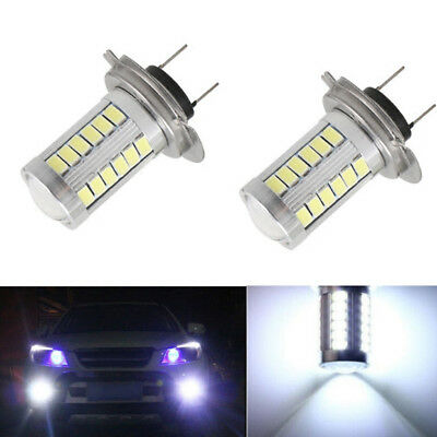 2x H7 6500K 5630 33 SMD LED Auto Car Fog Light Headlight Lamp Bulbs Super White