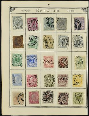 Belgium Album Page Of Stamps #V8078