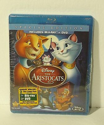 The Aristocats (Blu-ray/DVD, 2012, 2-Disc Set, Special Edition) NEW Disney