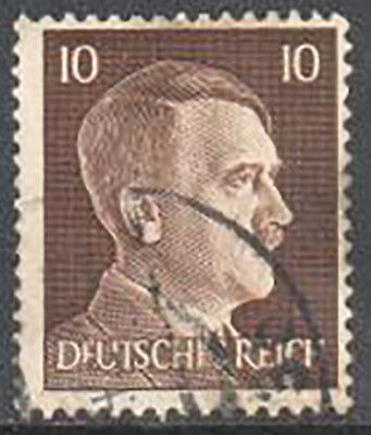 SC#512 - Germany Nazi 3rd Reich 1941 - Adolf Hitler Head 10 Pfennig Used (512-3)