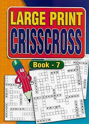2 Large Print Crisscross Books 64 Puzzles In Each A4 Size Books 7 & 8 Free P/P