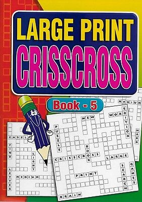 2 Large Print Crisscross Books 64 Puzzles In Each A4 Size Books 5 & 6 Free P/P