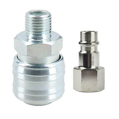 "Air Line Hose Fitting Female Coupler & Male Fitting 1/4"" BSP Euro Quick Release"