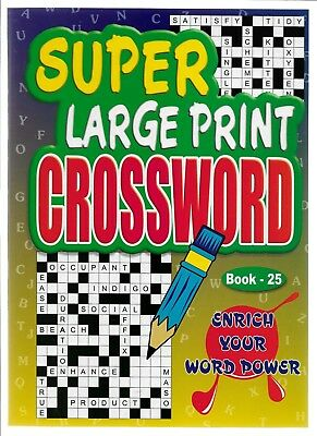 4 Super Large Print Crossword Books 76 Puzzles In Each A4 Size Book 25-26-27-28
