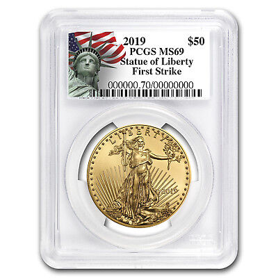 2019 1 oz Gold American Eagle MS-69 PCGS (FS, Liberty Label)