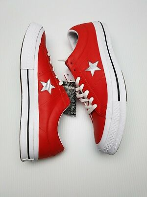 9766dbf7f3d Converse Mens Size 11.5 One Star OX Low Casino Red Casual Sneakers Shoes New