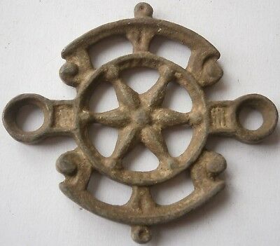 Antique Unknown fragment Star of David OLD EUROPE Decor Metal BRONZE Rare