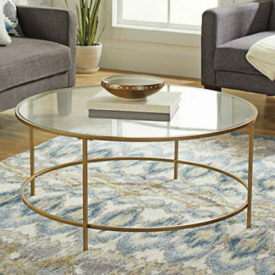 Gold Coffee Table Glass Top.Nola Coffee Table Glass Top Living Room Storage Furniture Home Office Gold New