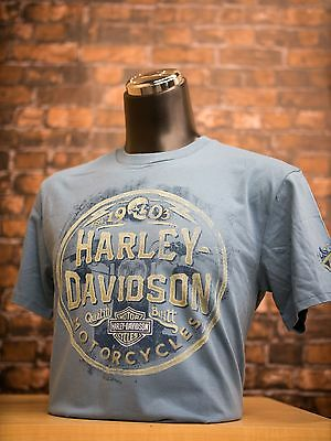 "New Harley Davidson Men/'s Dealer Tee /""Wood Shield/"" P//N 3021"