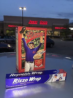 2017 Sealed Chicago Cubs Bundle Anthony Rizzo GO CUBS RIZZOS Cereal + Rizzo Wrap