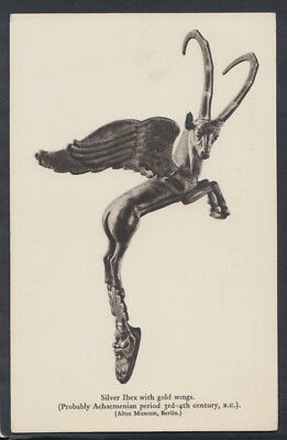 Berlin Museum Postcard - Silver Ibex With Gold Wings, Altes Museum RS12433
