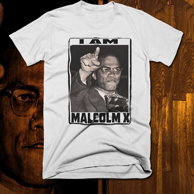 022c7631 Malcolm X T-Shirt Black History Month African Civil Rights Activist New,  cotton