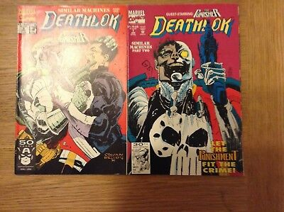 Run of 2 Deathlok comics issues 6 and 7 (2 part story) from 1991/92 - free post