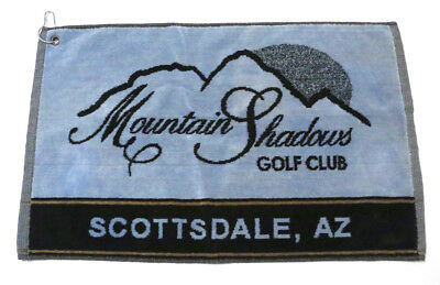 Mountain Shadows Golf Course Golf Towel Scottsdale AZ with Clip to Hang on Bag