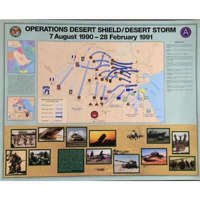 "US Army Desert Storm Battle Map 30"" x 24  US Army Center of Military History"